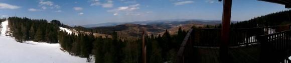 panorama z wieży w stronę Pienin