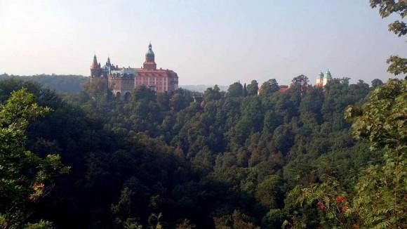 widok na rezydencję Książ ze Starego Książa