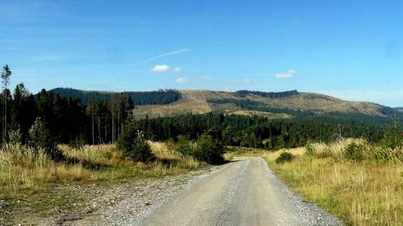 masyw Ciernej Hory znad przełęczy Toćna