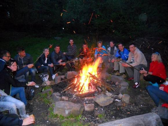 ognisko grupowe przy bacówce