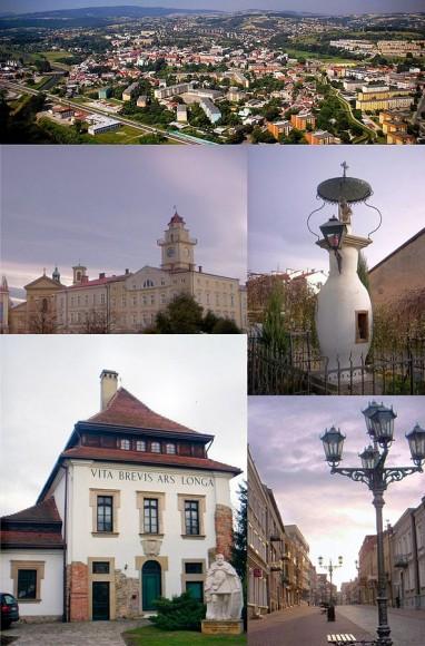 zdjęcia Gorlic, kolaż, źródło:Wikipedia