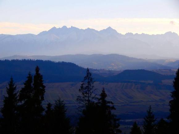 panorama Tatr ze Studzionek