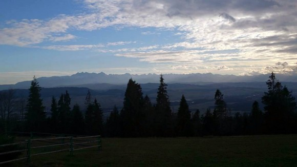 panorama Tatr ze Studzionek (Gorce)