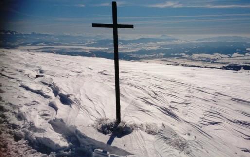 zimowy widok z Babiej Góry