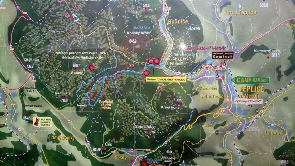 plan Teplickiego Skalnego Miasta