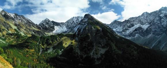 Skaliste otoczenie dolin Piarżystej i Hlińskiej w słowackich Tatrach Wysokich