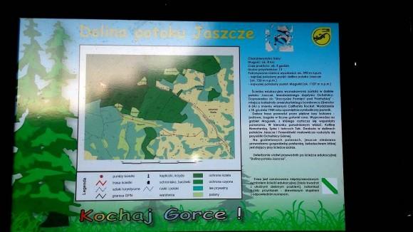 początek ścieżki edukacyjnej w Jaszczach