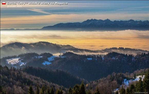 panorama Tatr z Magurki, foto T.Zabrzewski