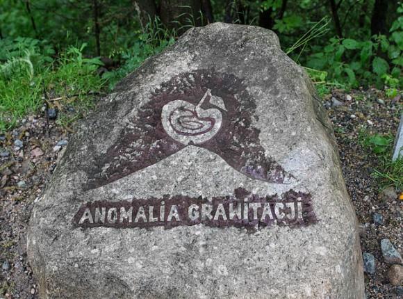 oznaczenie miejsca anomalii grawitacyjnej w Karpaczu