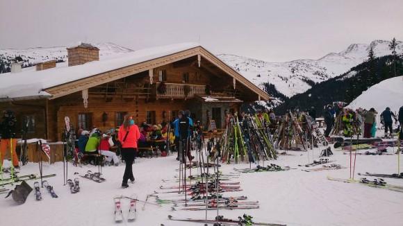górska chata Die Winkler Alm na przełęczy