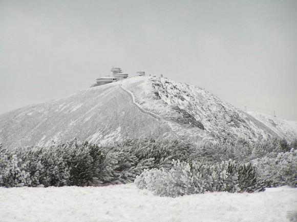 Śnieżka widziana z Równi pod Śnieżką