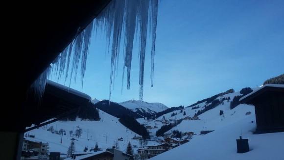 widok z okna hotelu Sonnblick w Hinterglemm