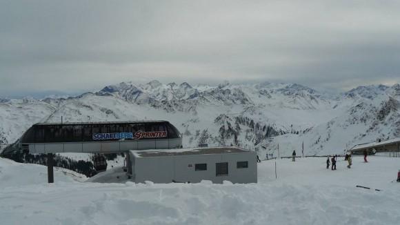 górna stacja Schattberg-sprinter i panorama Alp