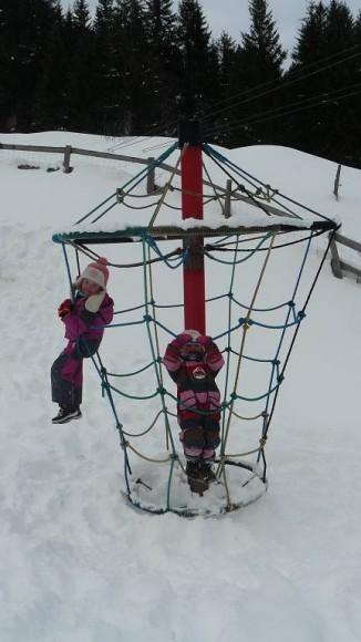 w parku aktywności dla dzieci na hali Lindlingalm