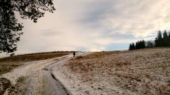 zmrożona droga na szczyt
