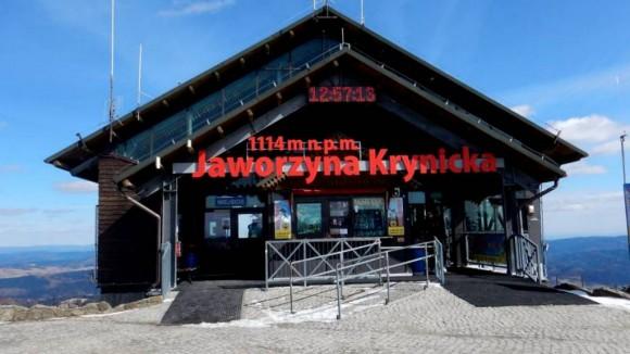 górna stacja kolejki gondolowej na Jaworzynie