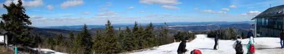 panorama ze szczytu w stronę Beskidu Niskiego