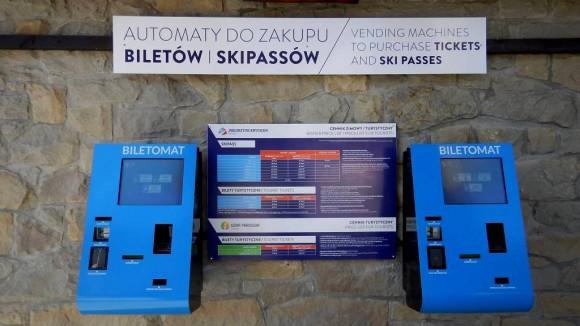 automat do zakupów skipassów i biletów oraz doładowań PKLpassa