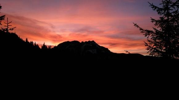 Kominiarski Wierch po zachodzie słońca