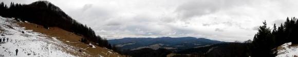 panorama z polany Zaskalskie na Wysoką