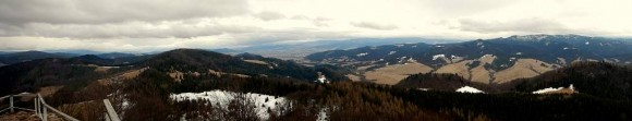 panorama z Wysokiej w stronę Beskidu Sądeckiego i Magury Spiskiej