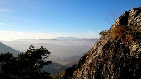 widok na Tatry z Wielkiej Skały