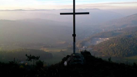 punkt widokowy poniżej siodła nad Hejdovou
