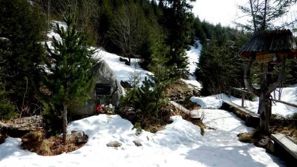 pamiątkowe miejsce, gdzie dotarł JPII w czasie swej ostatniej wycieczki po Tatrach