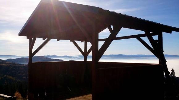 panorama ze Smrekovicy na południe
