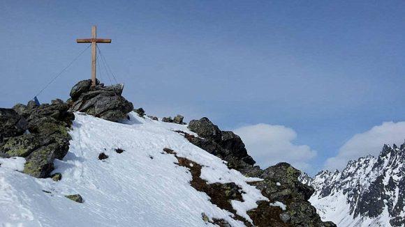 wierzchołek Skrajnego Soliska zimowo