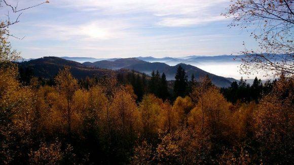 panorama Slanskich Wierchów ze Smrekowicy