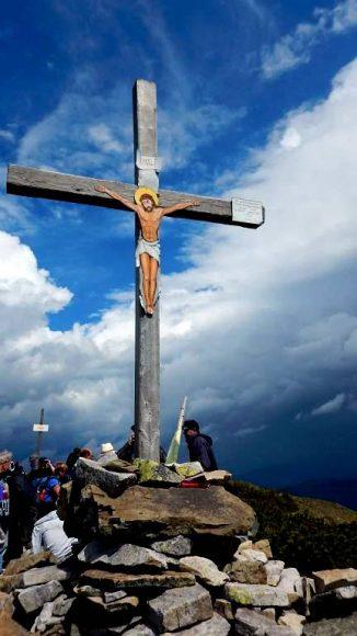 krzyż na wierzchołku Strimby