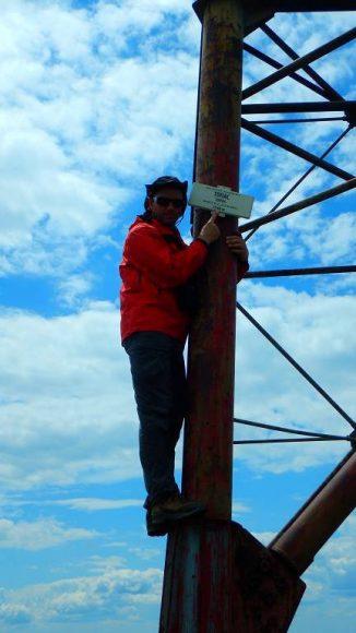 na szczycie Topaza