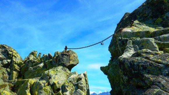 słynny uskok na Granatach