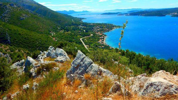 punkt widokowy przy drodze Orebić- Loviste