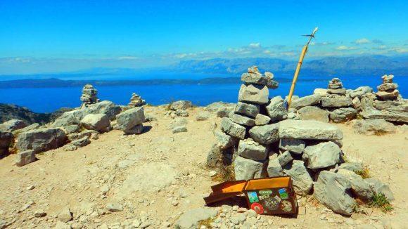 na szczycie Sv.Iliji - 961m, kulminacji półwyspu Peljesac
