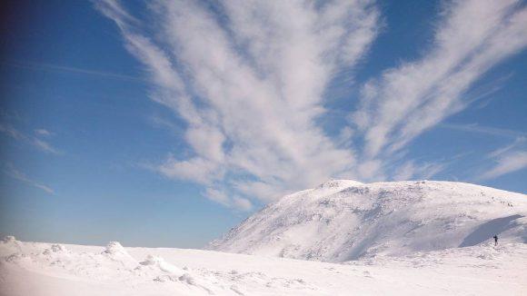 zimowy widok na Diablak, masyw Babiej Góry, Beskid Żywiecki