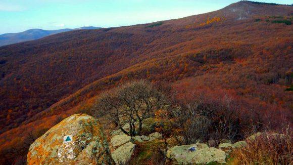 piękna jesień w Matrze i skałki szczytowe Vilagos