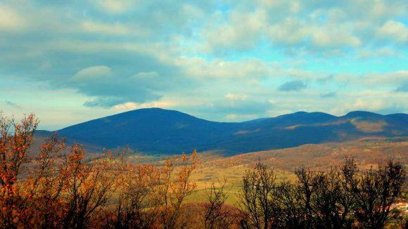 panorama Gór Zemplińskich z Regec