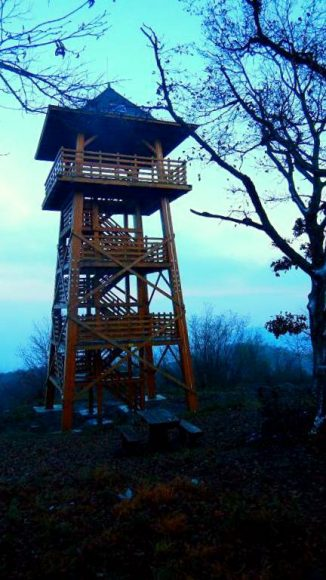 wieża widokowa na wierzchołku Kiss-Milic